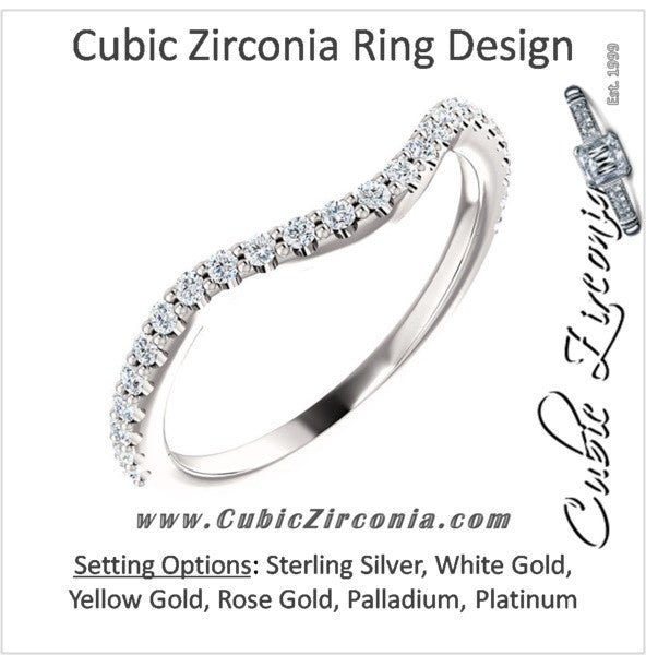 Cubic Zirconia Anniversary Ring Band, Style 122-142 (Kathryn Matching Band)