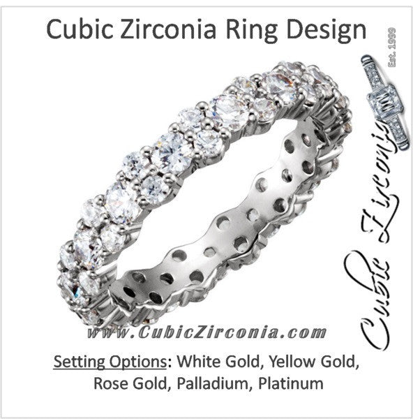 Cubic Zirconia Anniversary Ring Band, Style 04-37 (1.75 TCW Round Eternity)
