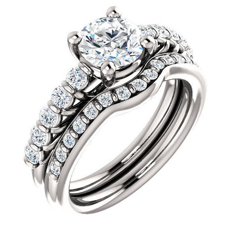 a cz wedding set style 03 98 feat the pamela engagement ring customizable - High Quality Cubic Zirconia Wedding Rings