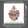 Cubic Zirconia Earrings- Heart 4-Prong Earring with Accent