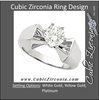 Cubic Zirconia Engagement Ring- The Misty (Round 1 Carat Solitaire with Squared Shank)