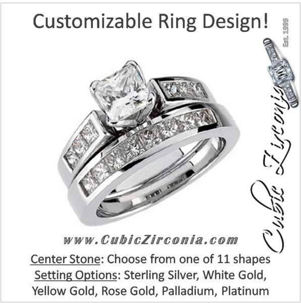 Cz Wedding Set Style 12 658 Featuring The Audra Engagement Ring Customizable Princess Channel