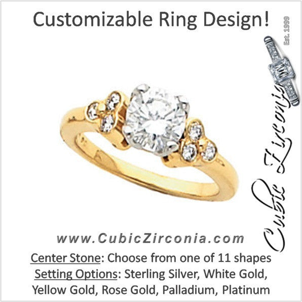 Cubic Zirconia Engagement Ring- The Hope (Customizable 7-stone)