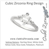 Cubic Zirconia Engagement Ring- The Donnetta (3-stone Design with Marquise Cut Center and Twin Triangle Accents)