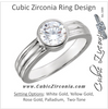 Cubic Zirconia Engagement Ring- The Gracey