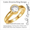 Cubic Zirconia Engagement Ring- The Esther