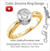 Cubic Zirconia Engagement Ring- The Cressida