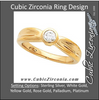 "Cubic Zirconia Engagement Ring- The Bridgette (0.25-1.0 CT Round Bezel Solitaire with ""Dimpled"" Band)"
