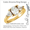 Cubic Zirconia Engagement Ring- The Calista (Oval Cut Center with Dual Triangle Accents)