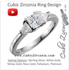 Cubic Zirconia Engagement Ring- The Miracle