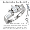 Cubic Zirconia Engagement Ring- The Sasha
