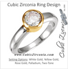 Cubic Zirconia Engagement Ring- The Elene