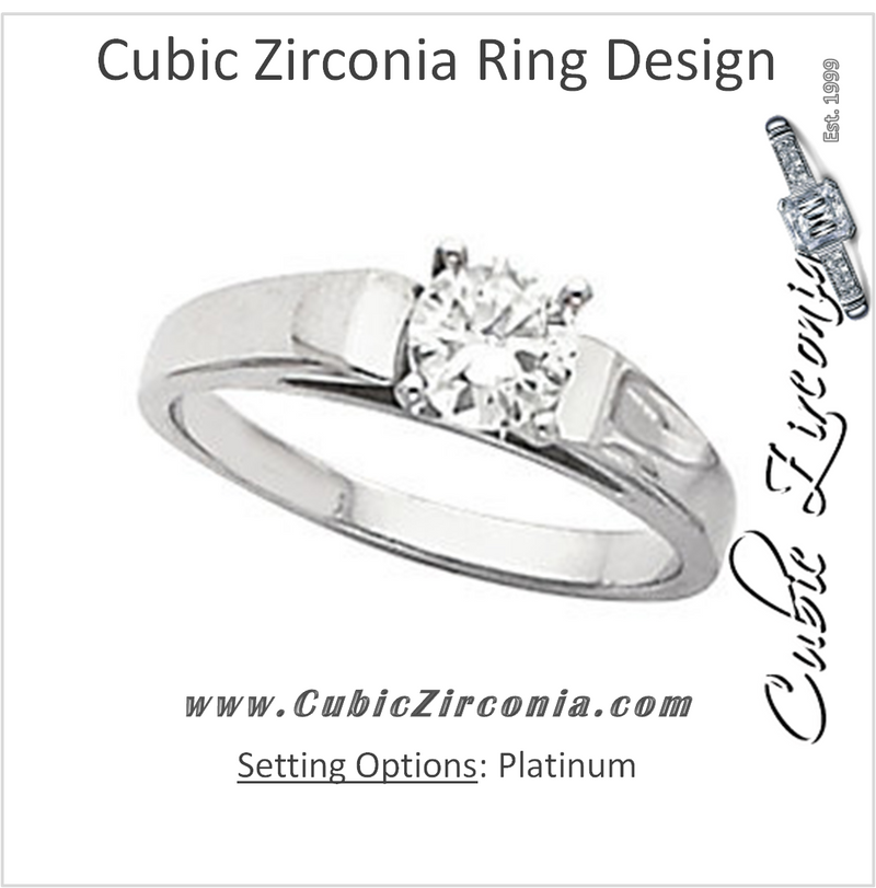 Cubic Zirconia Engagement Ring- The Jade