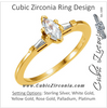Cubic Zirconia Engagement Ring- The Janey