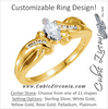 Cubic Zirconia Engagement Ring- The Eva