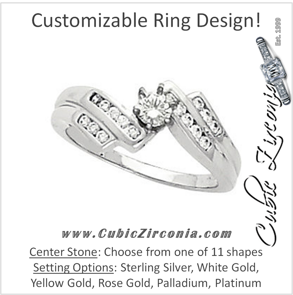 Cubic Zirconia Engagement Ring- The Meagan