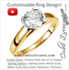 Cubic Zirconia Engagement Ring- The Serafina