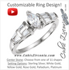 Cubic Zirconia Engagement Ring- The Trina