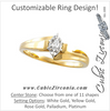 Cubic Zirconia Engagement Ring- The Doris
