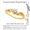 Cubic Zirconia Engagement Ring- The Maya