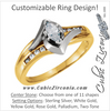 Cubic Zirconia Engagement Ring- The Meiko