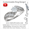 Cubic Zirconia Engagement Ring- The Hermione (Customizable 11-stone Round Channel Artisan Bypass)