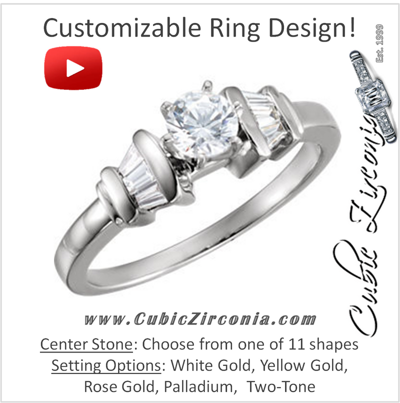 Cubic Zirconia Engagement Ring- The Angelique