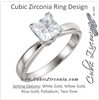 Cubic Zirconia Engagement Ring- The Maggie