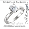 Cubic Zirconia Engagement Ring- The Shirley