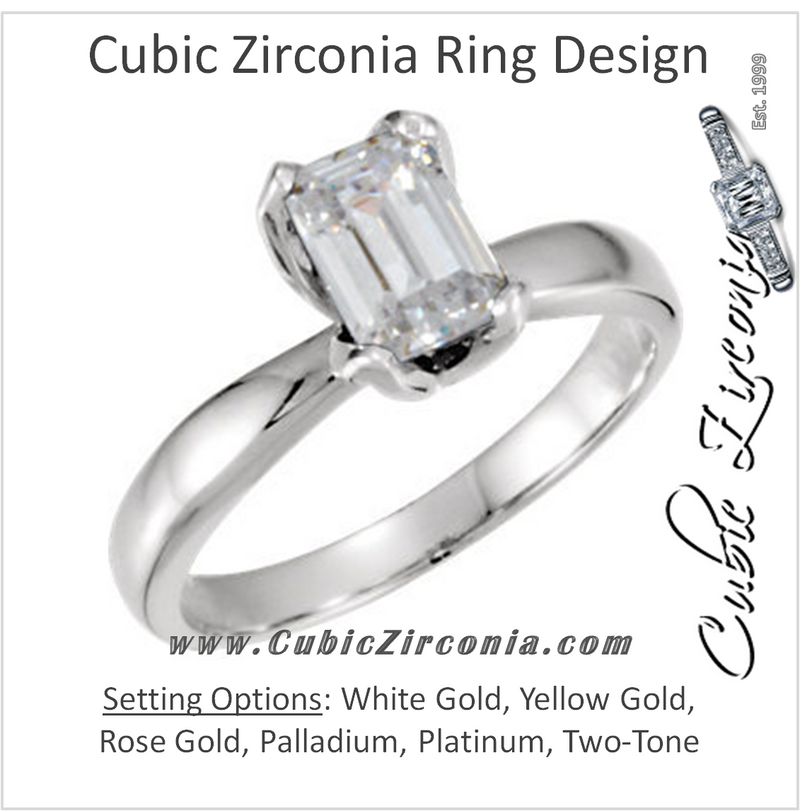 Cubic Zirconia Engagement Ring- The Gabriela