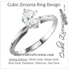 Cubic Zirconia Engagement Ring- The Janet
