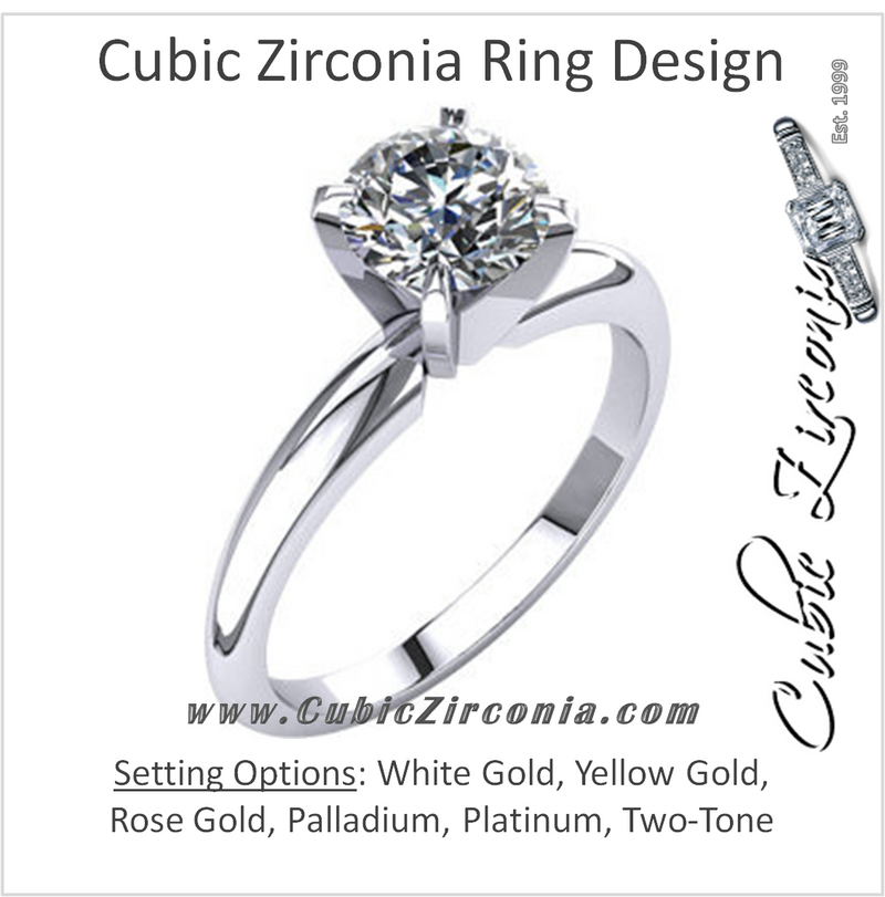 Cubic Zirconia Engagement Rings CZ Engagement Rings Tagged