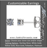 Cubic Zirconia Earrings- Round 4-Prong Light Basket