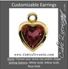 Cubic Zirconia Earrings- Heart Filigree