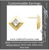 Cubic Zirconia Earrings- Button for Square/Princess Center