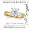 Cubic Zirconia Engagement Ring- The Shelly