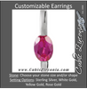 Cubic Zirconia Earrings- Oval Bar
