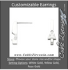 Cubic Zirconia Earrings- Customizable Triangle or Trillion Cut Solitaire Linear Bar (short) Earring Set