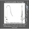 Cubic Zirconia Earrings- Customizable Triangle Cut Solitaire Linear Bar (long) Earring Set