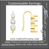 Cubic Zirconia Earrings- Customizable Stacked Round Cut 3-Stone CZ Earring Set