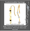 Cubic Zirconia Earrings- 3 Stone Round Bar