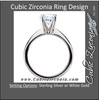 Cubic Zirconia Engagement Ring- The Carol (Classic Round Solitaire)