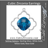 Cubic Zirconia Earrings- Decorative Dangle for Antique Center