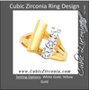 Cubic Zirconia Engagement Ring- The Tamika (0.75 TCW Round Elevated Multi-Prong 3-Stone Fashion Ring with Swooping Split-Band)