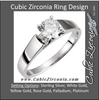 Cubic Zirconia Engagement Ring- The Melissa (Round Solitaire Classic)