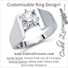 Cubic Zirconia Engagement Ring- The Katy