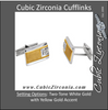 Men's Cufflinks- 12-stone 0.16 CTW with Two-Tone Design