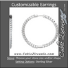 Cubic Zirconia Earrings- Customizable Inside/Outside Hoop Earring Set