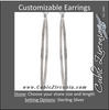 Cubic Zirconia Earrings- 100-stone Customizable Sterling Silver Inside/Outside Hoop CZ Earring Set
