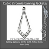Cubic Zirconia Earrings- 0.28 Carat Diamond-Shaped Earring Jacket Set